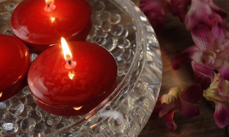floating disc candle